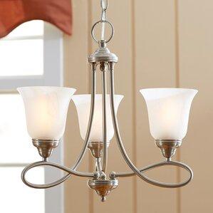 norwood 3 light shaded chandelier. beautiful ideas. Home Design Ideas