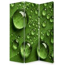 72 x 48 Rain 3 Panel Room Divider by Screen Gems