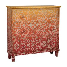 Aurelina 3 Drawer Accent Chest by Bungalow Rose