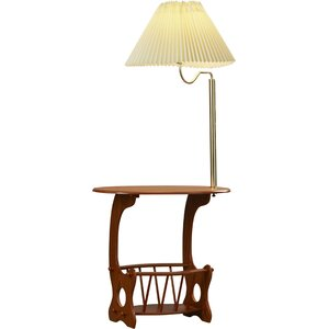 Grenoble Swing Arm Brass Lamp End Table by August Grove