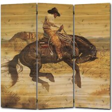 55 x 55 Sun Fishin Son of a Gun 3 Panel Room Divider by WGI-GALLERY