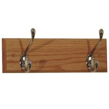 Coat Rack with 2 Hooks by Wooden Mallet
