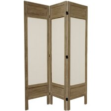 67 x 51.75 Solid Frame Fabric 3 Panel Room Divider by Oriental Furniture
