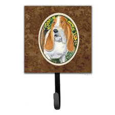 Basset Hound Leash Holder and Key Hook by Caroline's Treasures