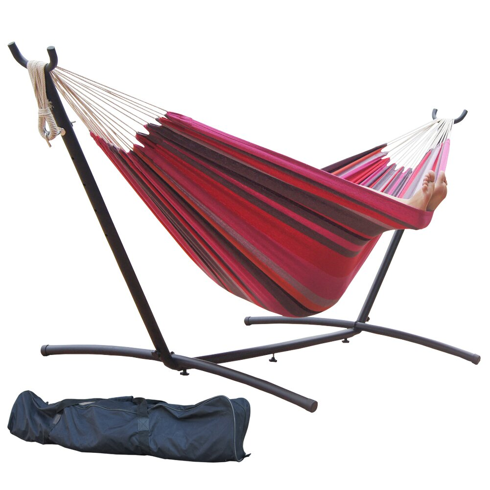 Prime Garden Double Cotton Hammock With Stand Amp Reviews