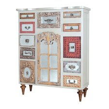 Abydos Mirror Mosaic 9 Drawer 3 Door Accent Cabinet by Bungalow Rose