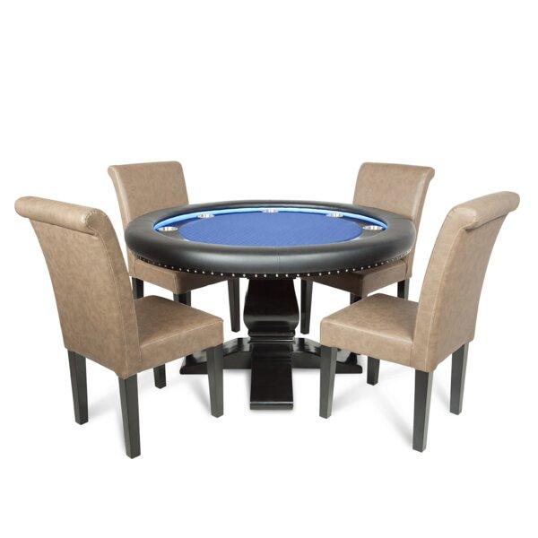 BBO Poker Red Velveteen Ginza LED Poker U0026 Dining Table Set | Wayfair
