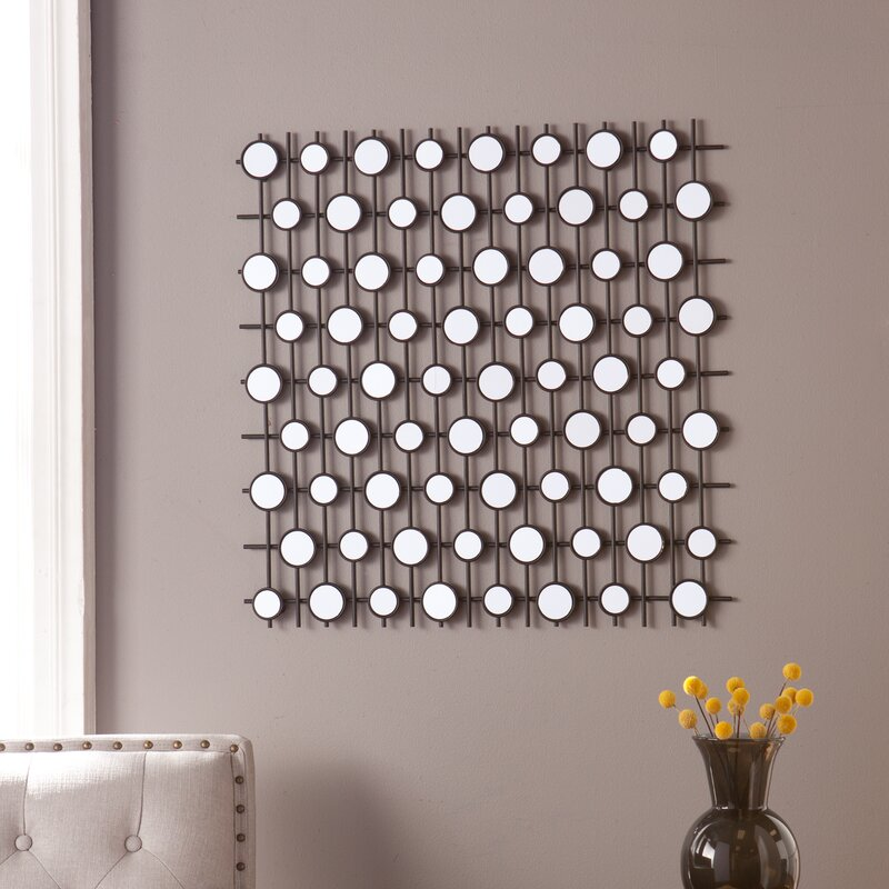 Geometric Wall Mirror harriet bee kerrie geometric wall sculpture mirror & reviews | wayfair
