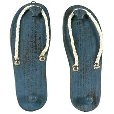 Wood Flip Flop Wall Hook by River Cottage Gardens