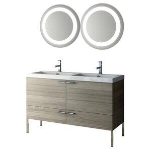 New Space 47 Double Bathroom Vanity Set with Mirror ACF Bathroom Vanities