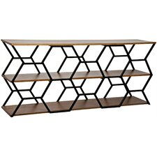 Tariq Metal Console Table by Noir