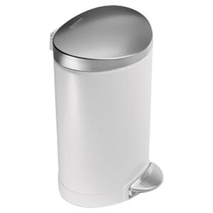 Brushed Stainless Steel Wastebin