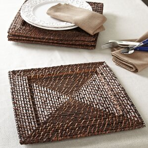 Madeline Rattan Chargers (Set of 4)