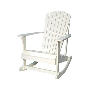 Cleo Porch Rocker in White