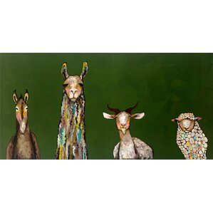 Donkey, Llama, Goat, Sheep Canvas Print