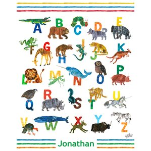 ABC's by Eric Carle Personalized Canvas Print