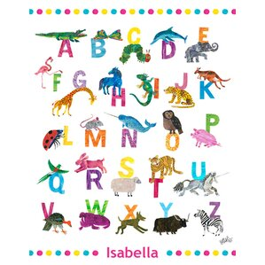 Eric Carle's ABC's by Eric Carle Personalized Canvas Art