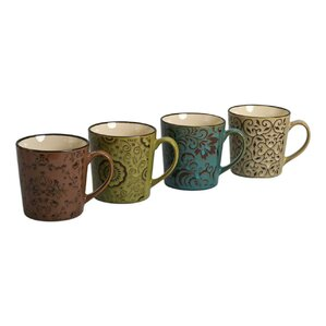4 Piece 17 oz. Grenada Mug Set (Set of 4)