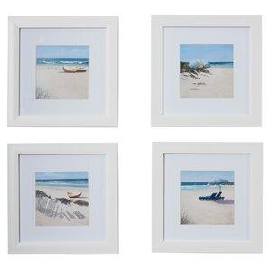Umbrella Framed Giclee Print (Set of 4)