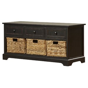 Grover Wood Storage Entryway Bench