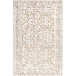 Rachelle Ivory & White Oriental Hand-Tufted Area Rug