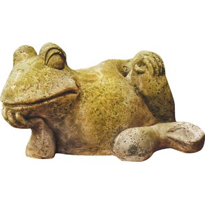 Woodland Lounging Frog Statue