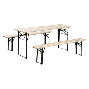 3-Piece Outdoor Folding Picnic Table Set