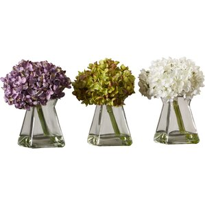 Faux Hydrangea Set (Set of 3)
