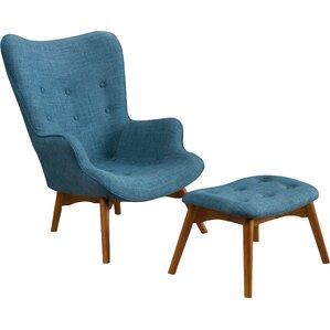 2-Piece Mulholland Arm Chair & Ottoman Set