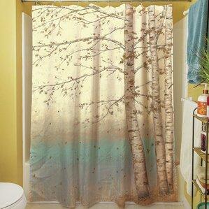 Sunny Birch I Shower Curtain