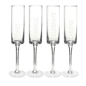 Celebration Champagne Flute (Set of 4)