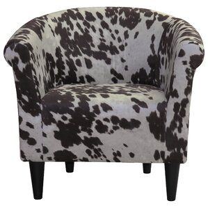 Denmark Cowhide Barrel Chair
