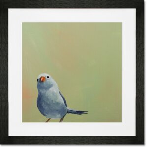 Little Blue Bird Framed Painting Print
