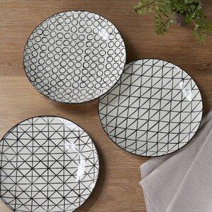 Kelvin 3-Piece Ceramic Dinner plate Set
