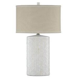 "Shelvia 30"" H Table Lamp with Drum Shade"