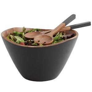 3-Piece Acacia Salad Bowl and Server Set