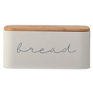 Serena Bamboo Metal Bread Box