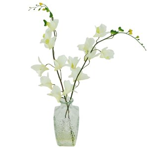 Faux Orchids in Decorative Vase