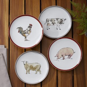 Marshall Barnyard Plates (Set of 4)