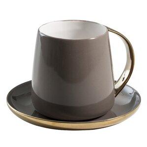 2-Piece Emille Porcelain Mug & Saucer Set