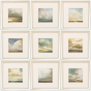 9-Piece Atmosphere Framed Painting Print Set