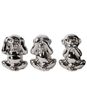 3-Piece Sitting Monkey Decor Set