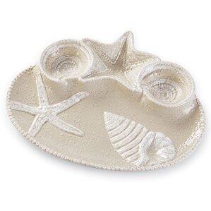 Conner Seashell Chip & Dip Platter