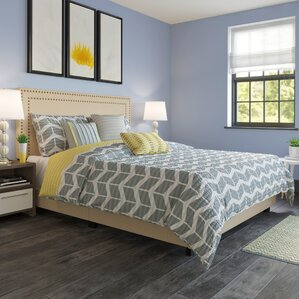 Sarah Upholstered Panel Bed