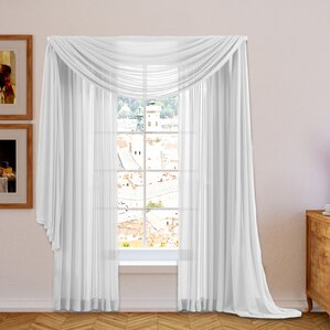 Conelley Sheer Curtain Panels (Set of 2)