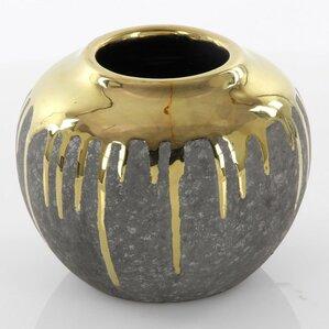 """6"""" Gray Ceramic Table Vase"""
