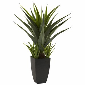 Faux Agave Plant in Decorative Vase