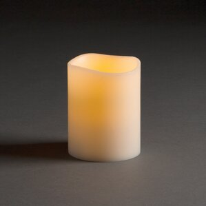 Flameless Pillar Candle (Set of 2)