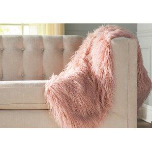 Mona Faux Fur Throw Blanket