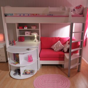 Casa European Single L-Shaped Bunk Bed with Storage